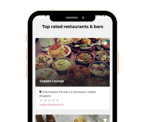 Smartphone Hub Screenshot - Listing Page Restaurants