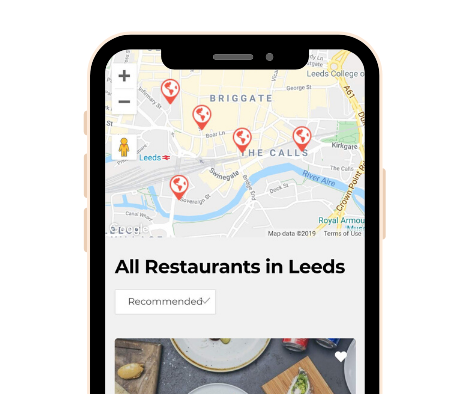 Smartphone Hub Screenshot - Restaurant Map Leeds