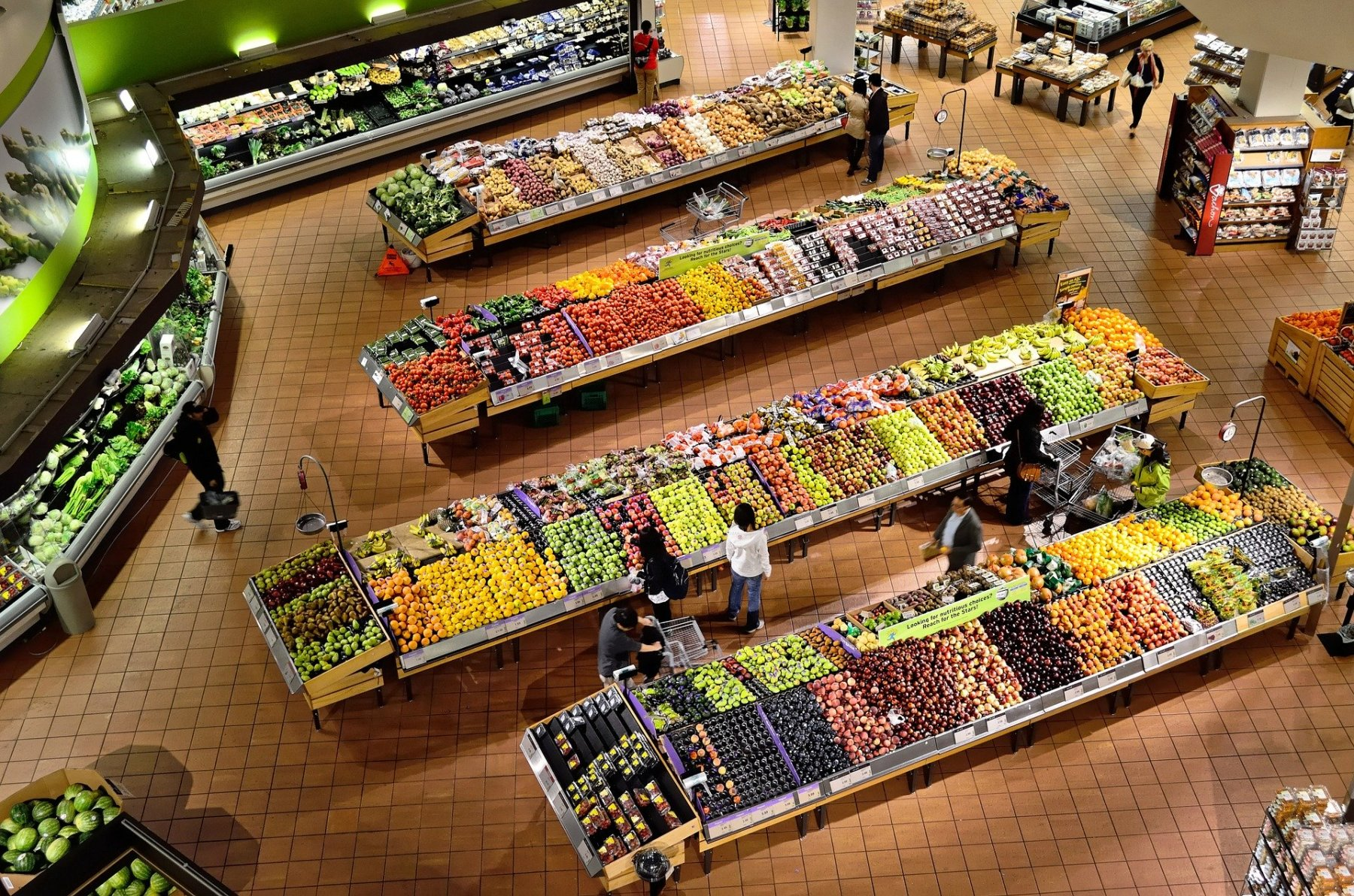 A Supermarket Full Of Food