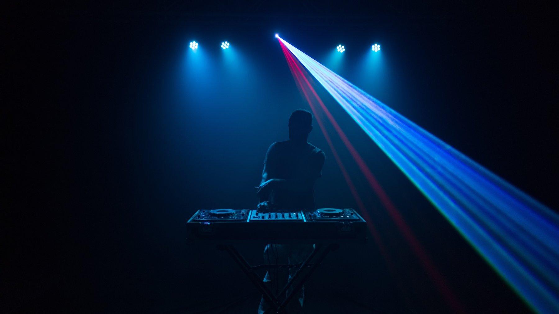 A DJ Performs At An Online Silent Disco Event