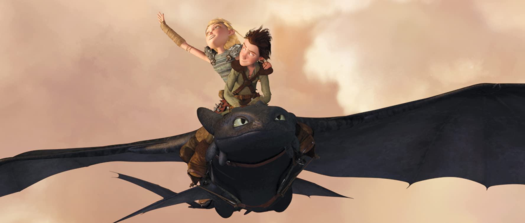 Hiccup and Astrid in How to Train Your Dragon by DreamWorks