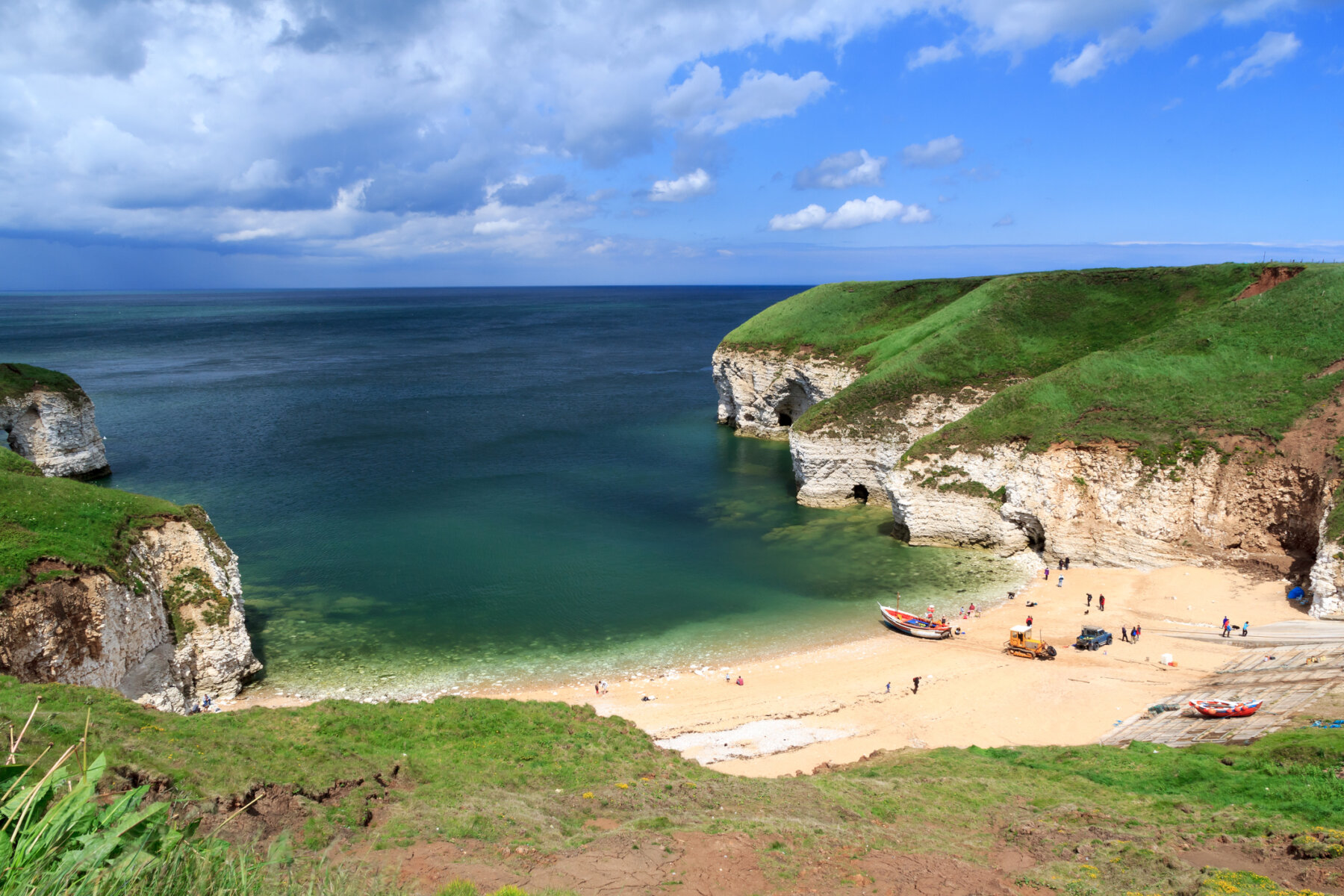 Hard to believe this is in the UK - North Landing Flamborough is one of the best beaches in East Yorkshire