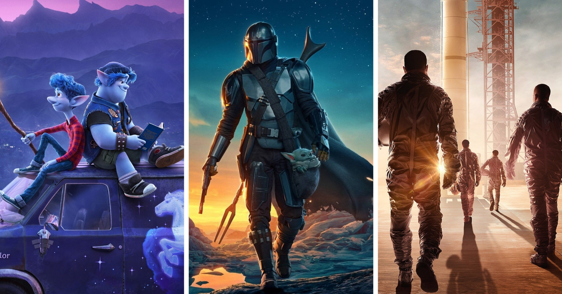 Whats on Disney+ October 2020 - Onward, The Mandalorian Season 2, , The Right Stuff and More