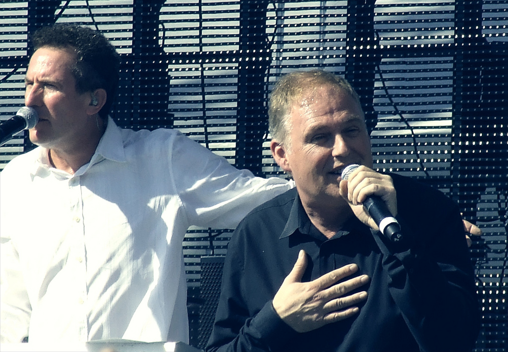OMD Co-founders Andy McCluskey and Paul Humphreys in 2011