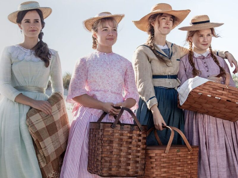 Coming to Sky Cinema Christmas 2020: Adaption of Louisa May Alcott's classic novel, Little Women, starring Saoirse Ronan, Emma Watson, Florence Pugh, Eliza Scanlen, Laura Dern, Timothée Chalamet, Meryl Streep (c) Sony Pictures Releasing.