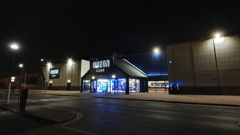 Outside the refurbished Odeon Luxe Cinema in Hull