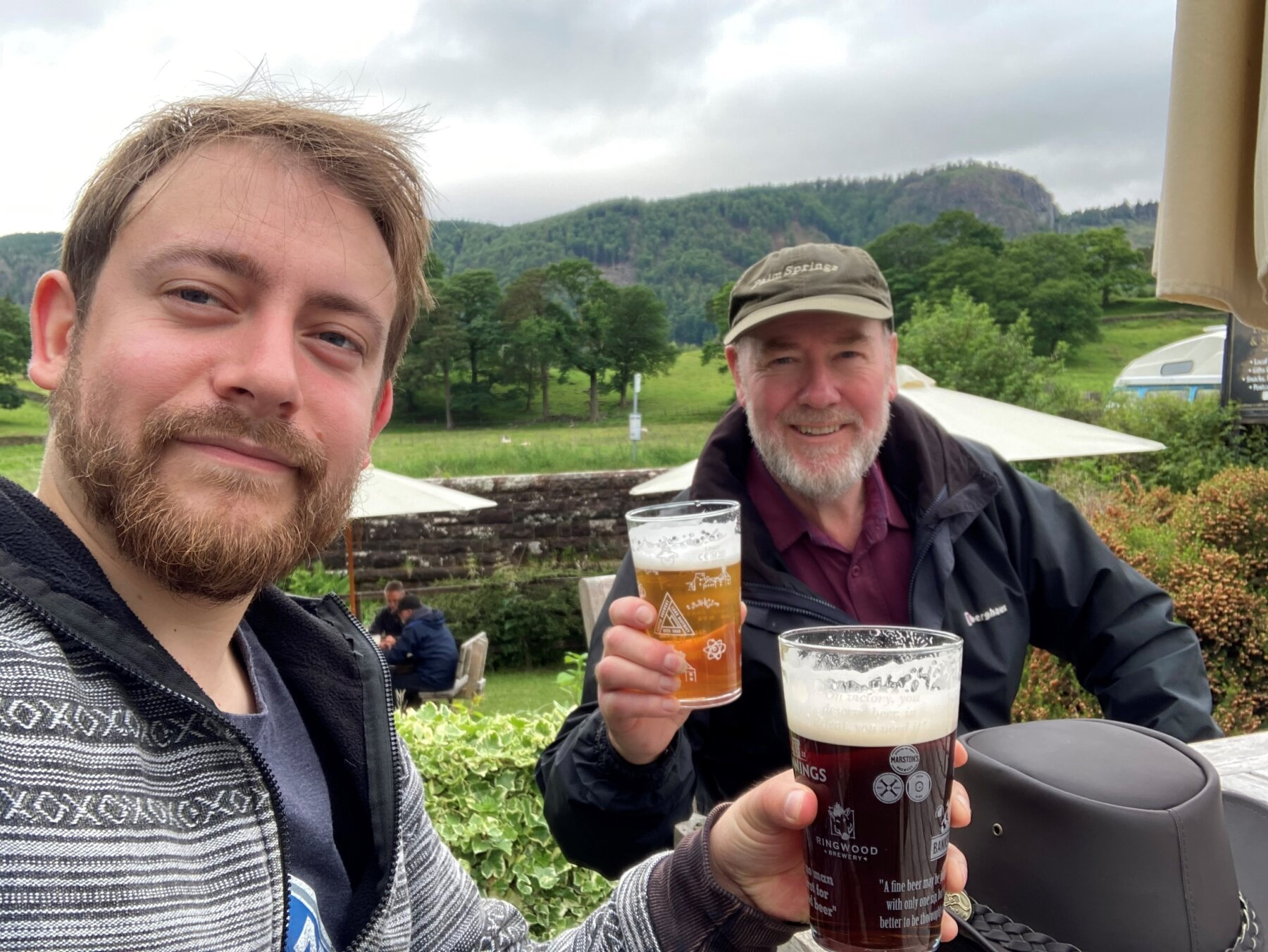 Steve Haswell and his son Simon taken at Helvellyn on one of their practice walks for the Daisy Appeal fundraiser.